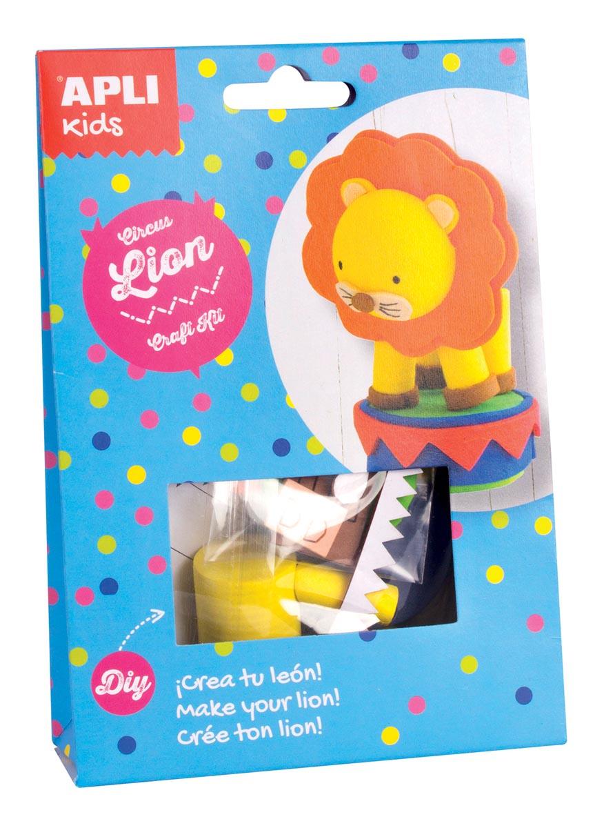 Apli Kids craft kit op blister, circus leeuw