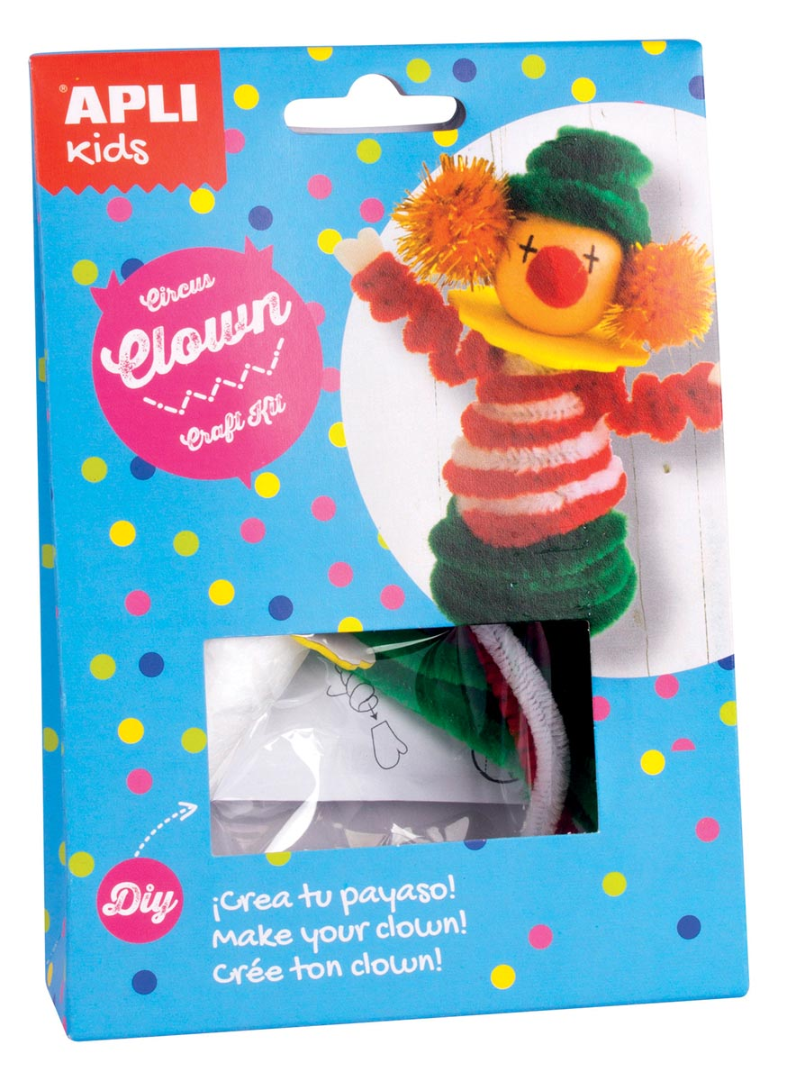 Apli Kids craft kit op blister, circusclown