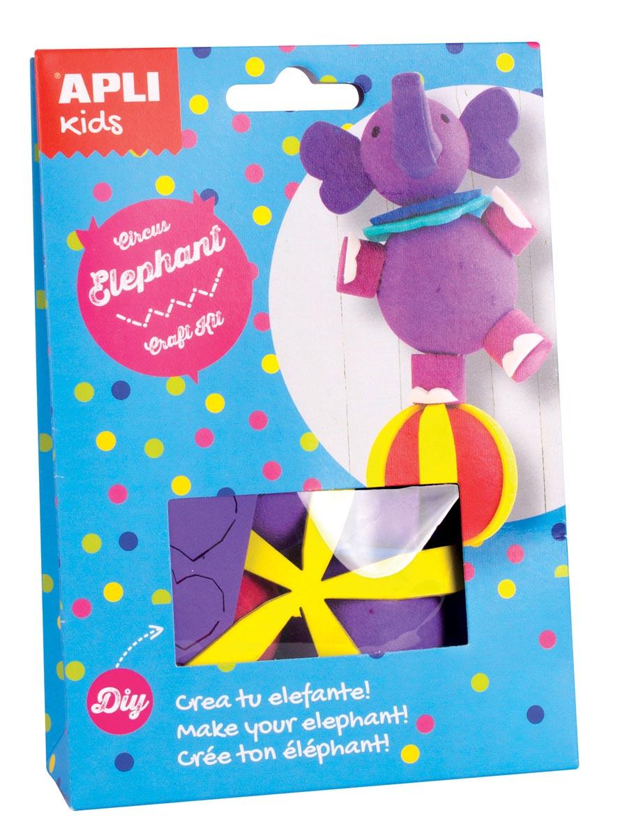 Apli Kids craft kit op blister, circusolifant