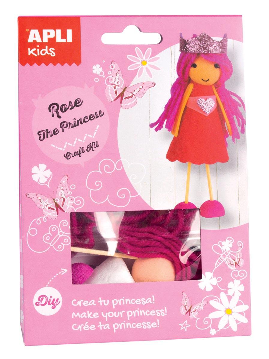 Apli Kids craft kit op blister, prinses Rose
