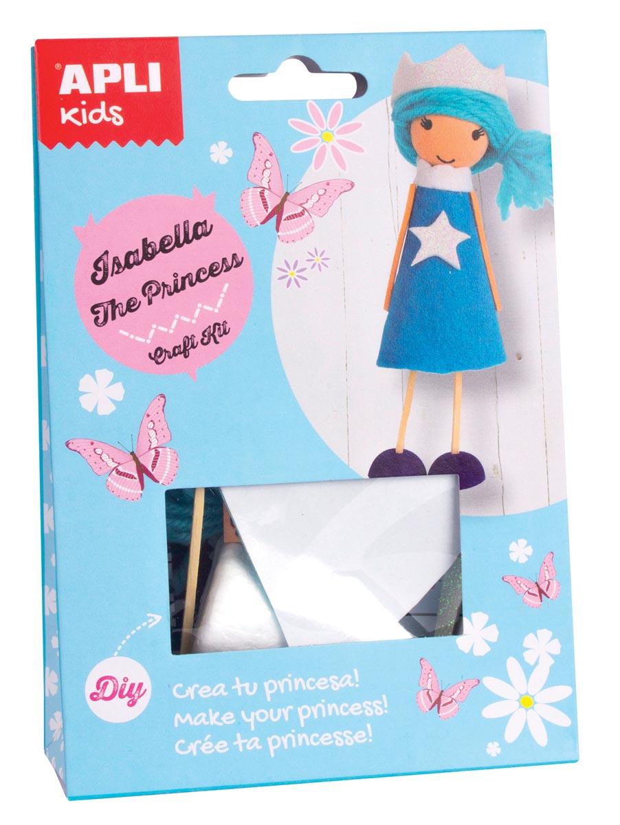 Apli Kids craft kit op blister, prinses Isabella