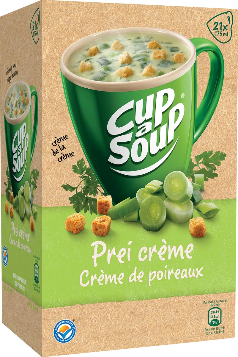 Cup-a-Soup prei crème met kaas croutons, pak van 21 zakjes