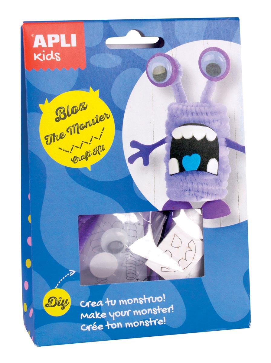 Apli Kids craft kit op blister, monster Bloz