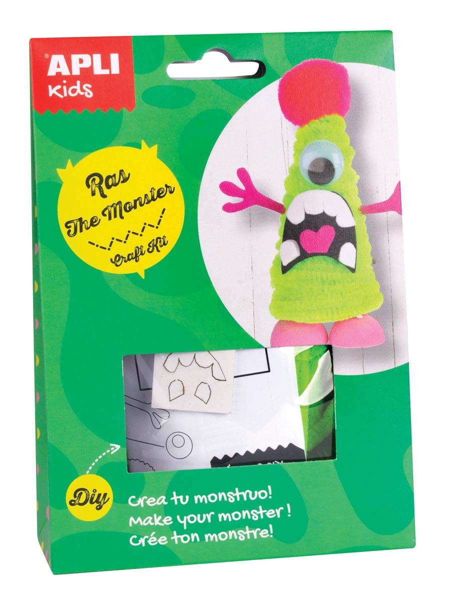 Apli Kids craft kit op blister, monster Ras