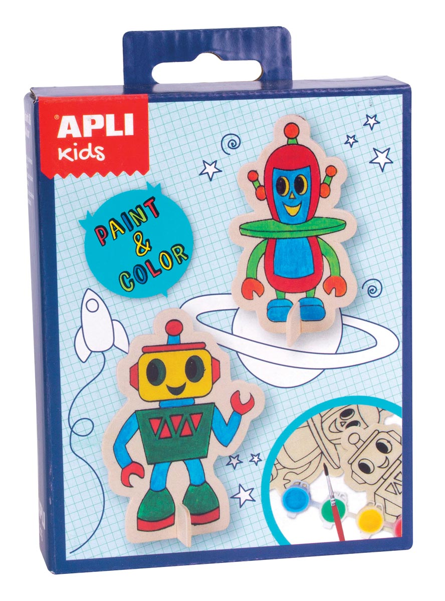 Apli Kids mini kit Paint & Color, robot