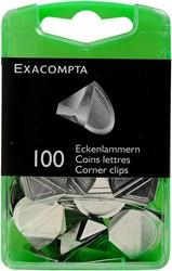 Exacompta hoekbinders zilver, doos met 100 stuks