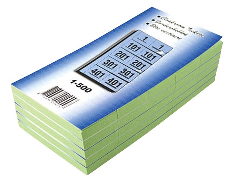 Garderobeblokken nummers van 1 t.e.m. 500, groen