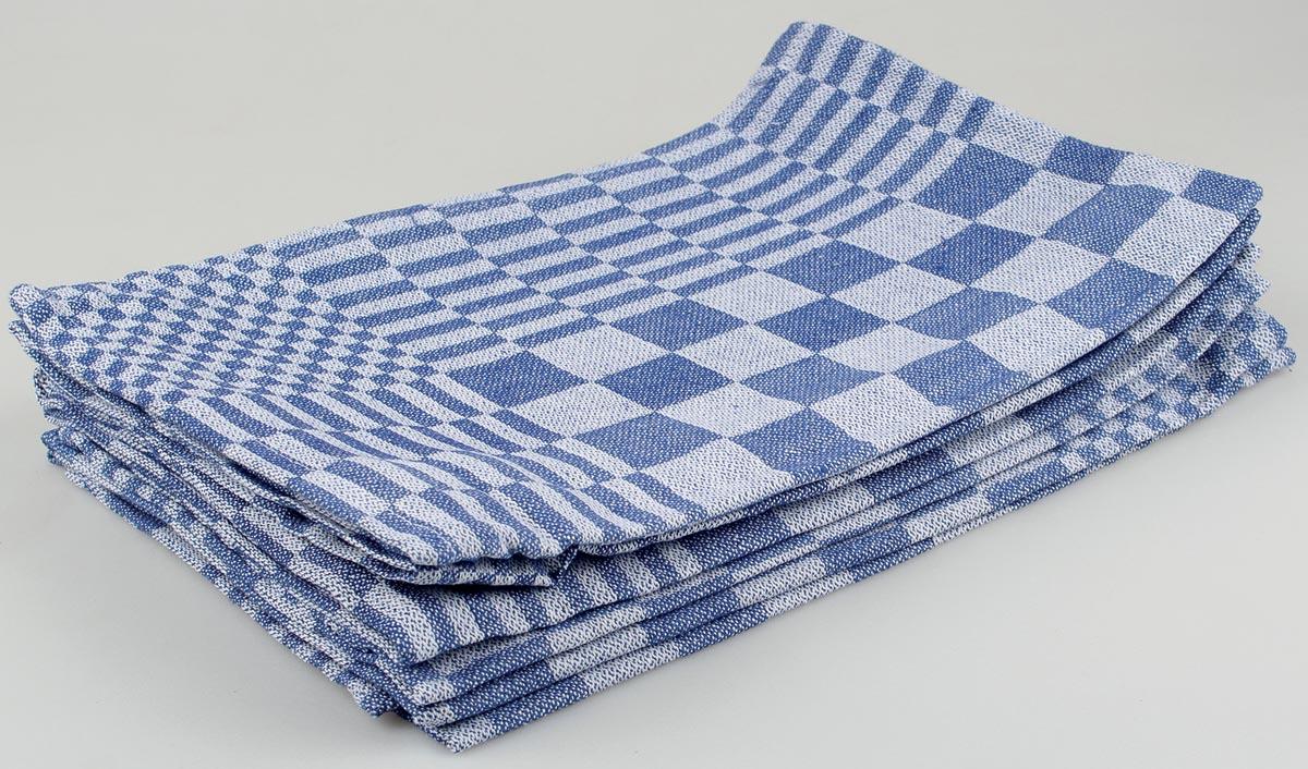 Handdoek, ft 65 x 65 cm, blauw/wit, pak van 6 stuks-2