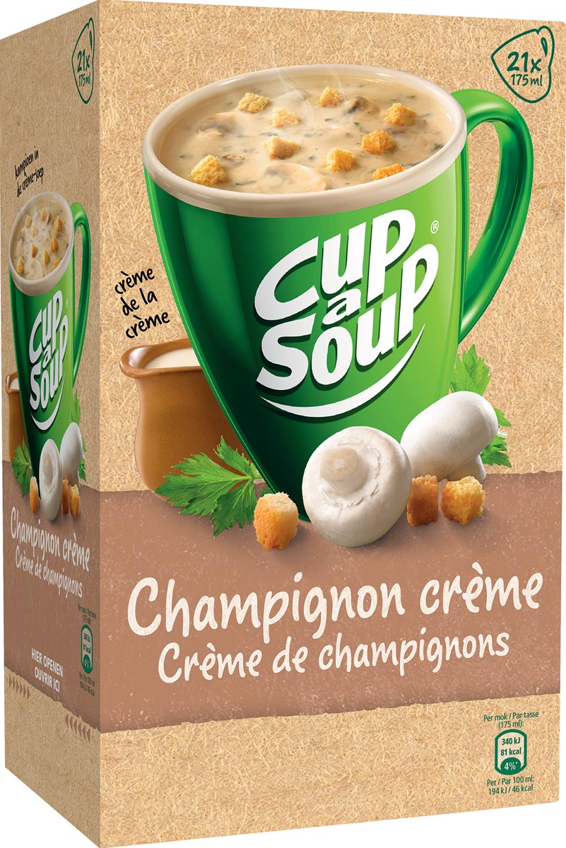 Cup-a-Soup champignon cr�me met croutons, pak van 21 zakjes