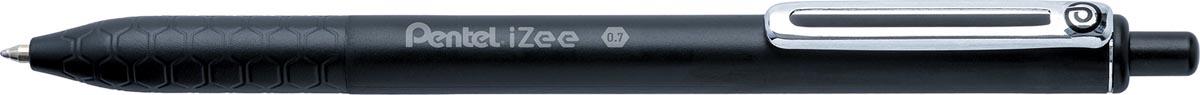 Pentel balpen iZee, intrekbaar, 0,7 mm, zwart