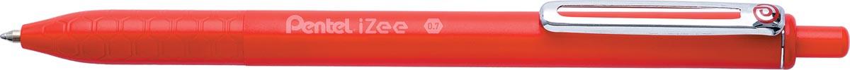 Pentel balpen iZee, intrekbaar, 0,7 mm, rood