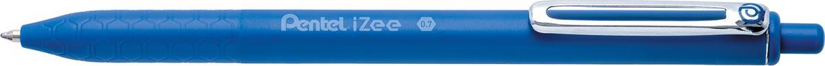 Pentel balpen iZee, intrekbaar, 0,7 mm, blauw