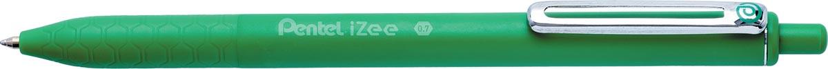 Pentel balpen iZee, intrekbaar, 0,7 mm, groen