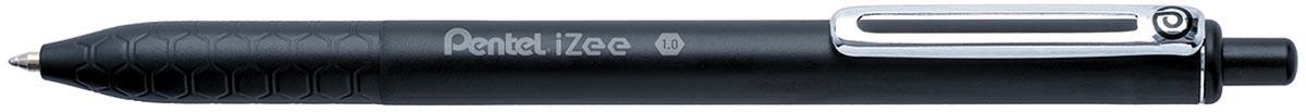 Pentel balpen iZee, intrekbaar, 1,0 mm, zwart