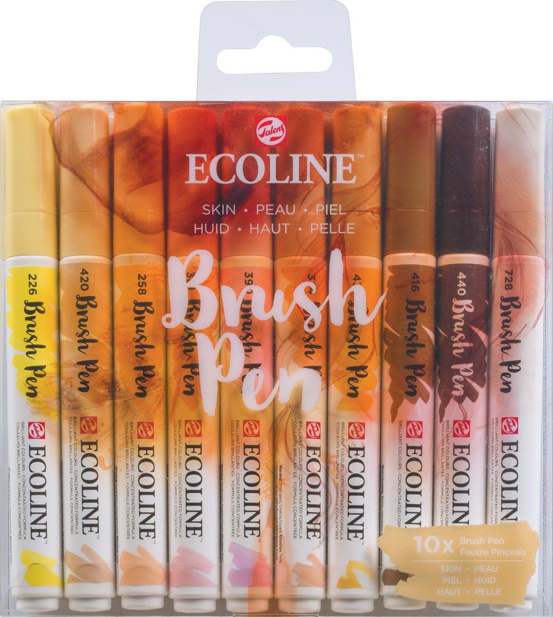 Talens Ecoline Brush pen, etui van 10 stuks, Huid