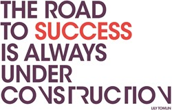 """Office Deco transfer XL """"The road to success"""""""