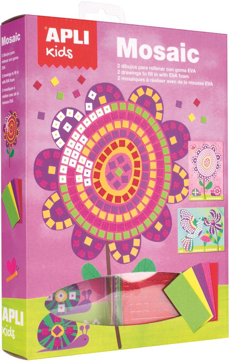 Apli Kids schuimrubber kit mozaïek, 2 stuks, bloemen
