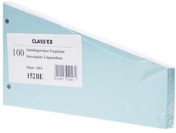 Class'ex trapezium verdeelstroken blauw, pak van 100
