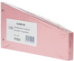 Class'ex trapezium verdeelstroken kers, pak van 100