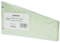 Class'ex trapezium verdeelstroken groen, pak van 100