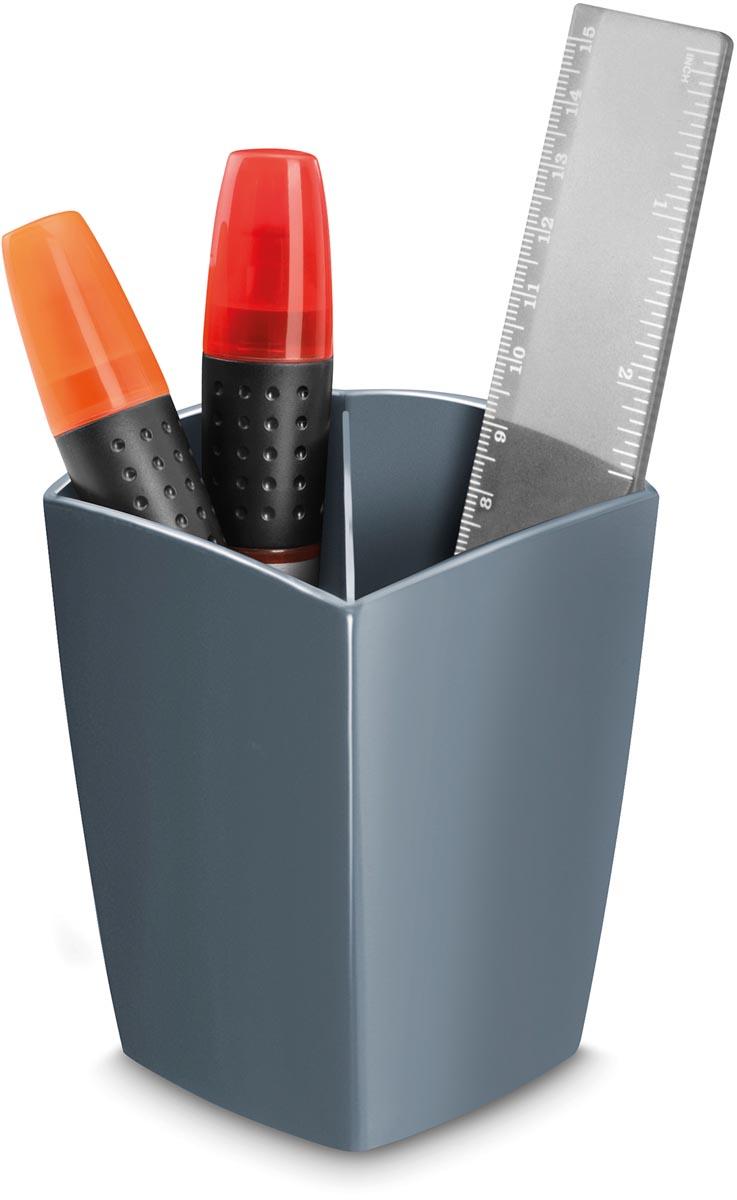 Gloss by CEP potloodbakje met 2 vakken, grijs