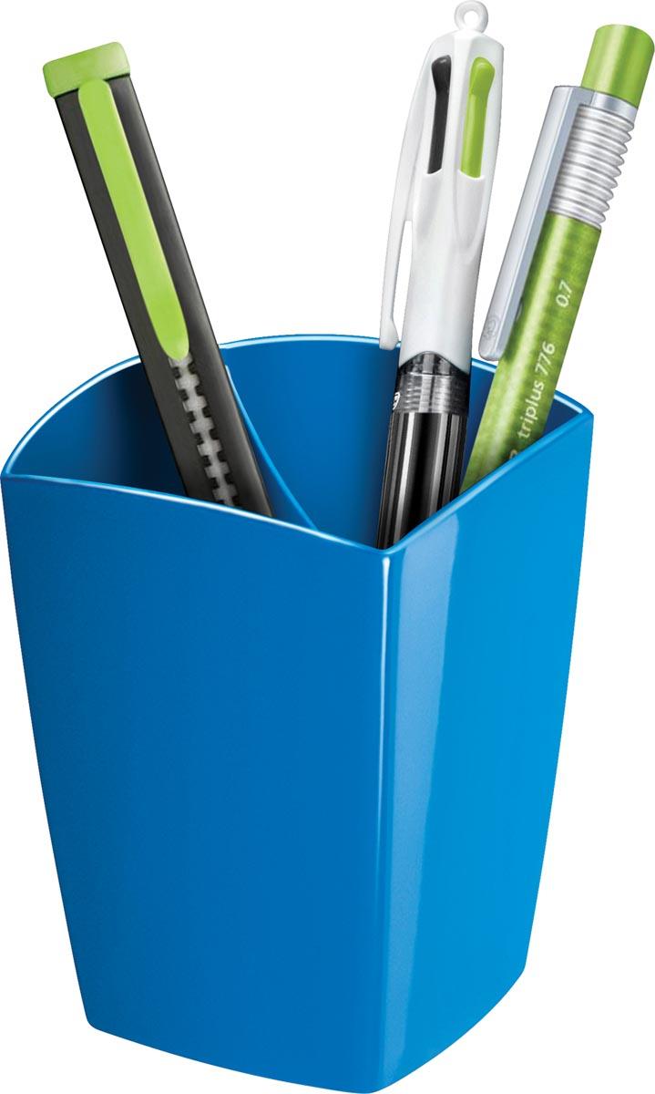 Gloss by CEP potloodbakje met 2 vakken, blauw