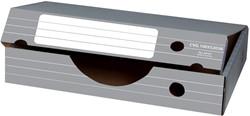 Elba archiefdoos liggend, ft 45 x 34 x 8,8 cm, grijs en wit