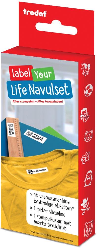Trodat navulkit voor Label Your Life textiel-stempel, Nederlands
