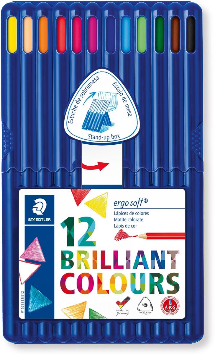 Staedtler driehoekig kleurpotlood Ergosoft 12 potloden