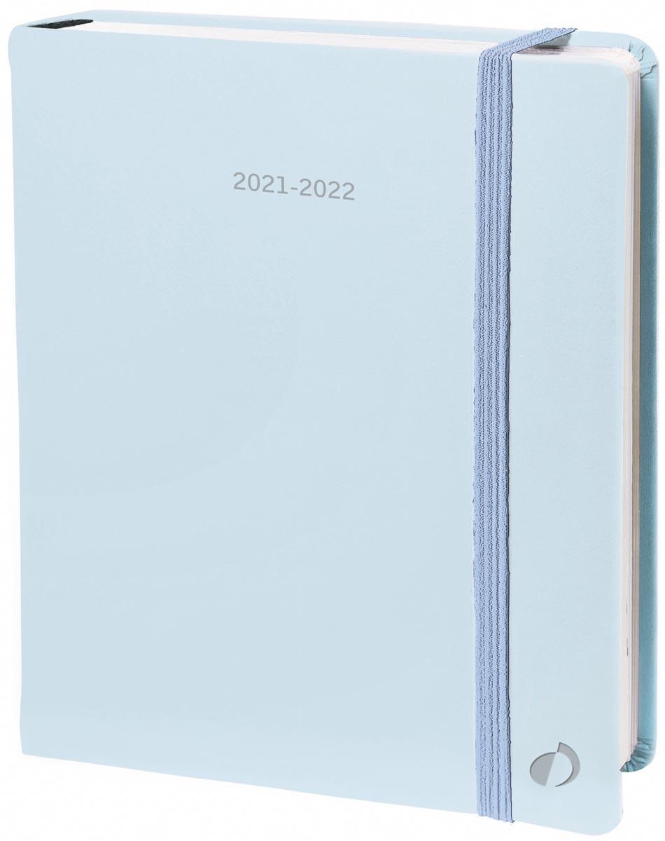 Quo Vadis kantooragenda Plan Day Pastel, pastelblauw, 2022