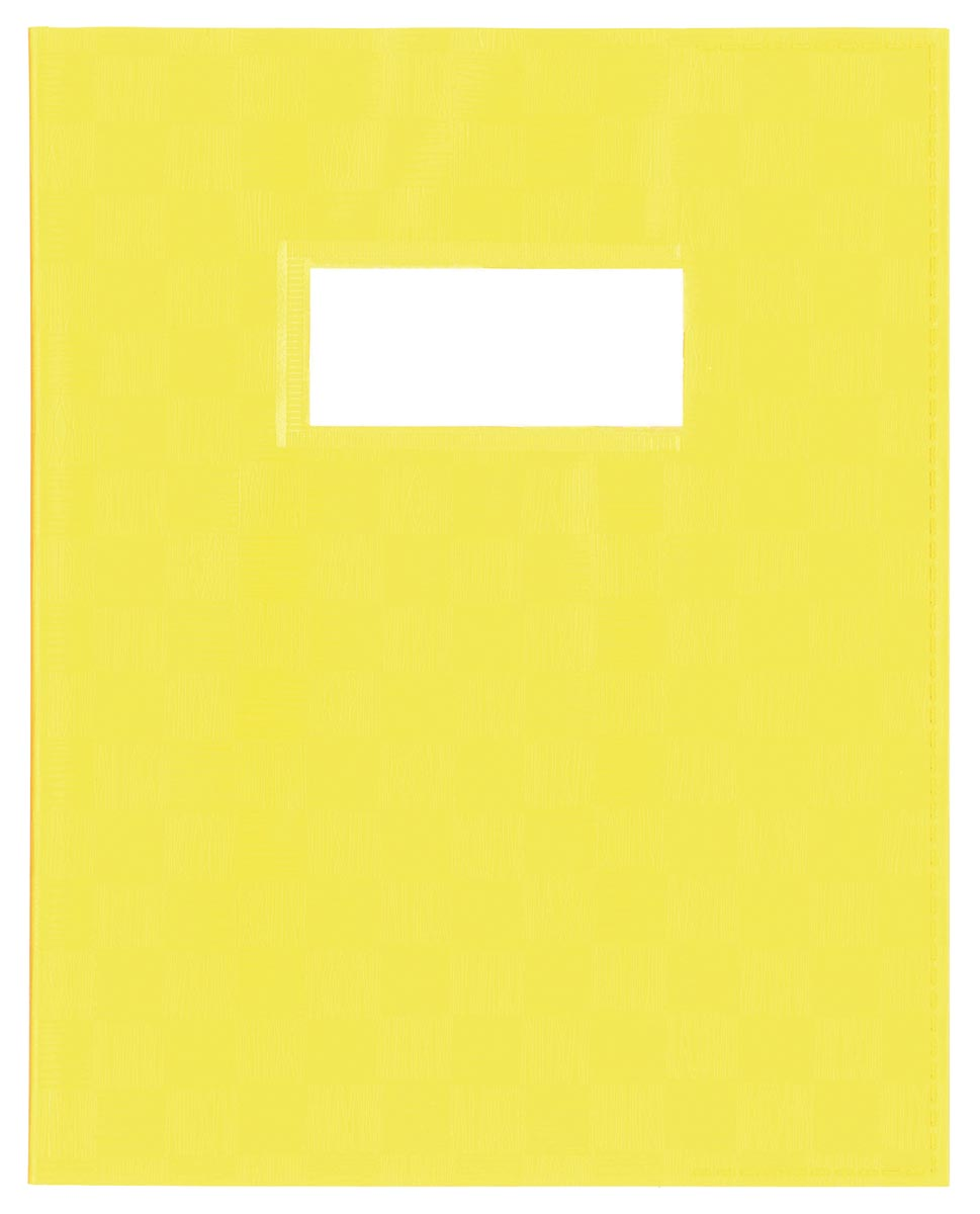 schriftomslag ft 23 x 30 cm, geel