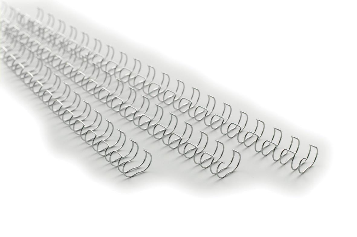 GBC MultiBind draadruggen, doos van 100 stuks, 6 mm, zilver