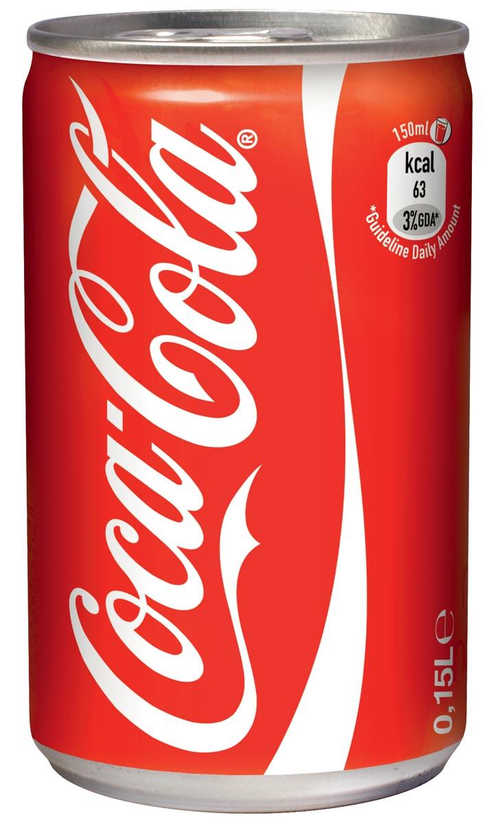 Coca-Cola frisdrank, blikje van 15 cl, pak van 24 stuks