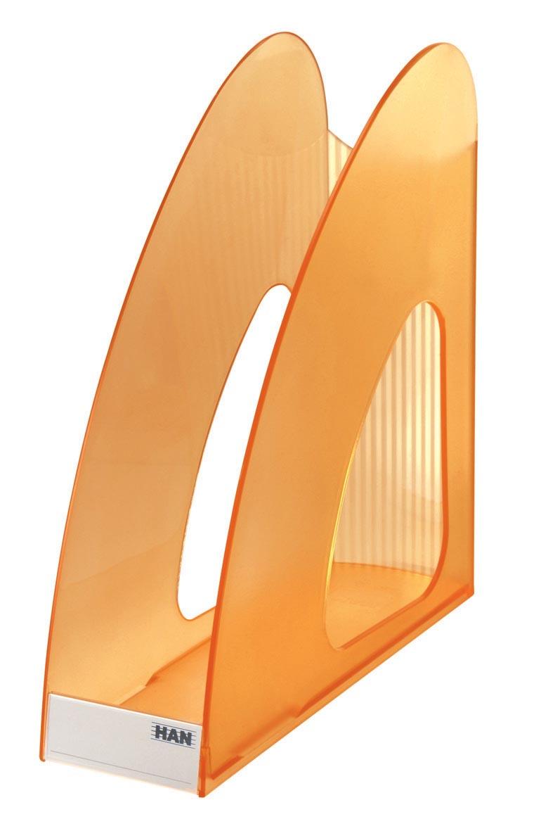 Han tijdschriftenhouder Twin transparant oranje