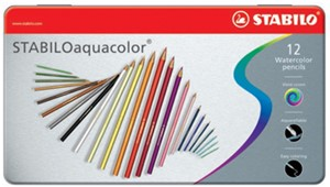 Crayons aquarellables