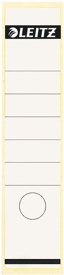 Leitz rugetiketten ft 6,1 x 28,5 cm, wit