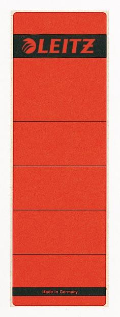 Leitz rugetiketten ft 6,1 x 19,1 cm, rood