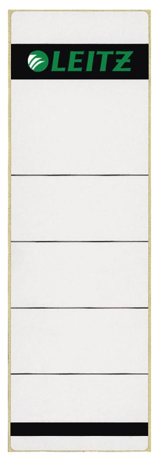 Leitz rugetiketten ft 6,1 x 19,1 cm, grijs