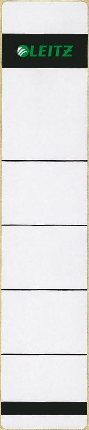 Leitz rugetiketten ft 39 x 191 mm, grijs