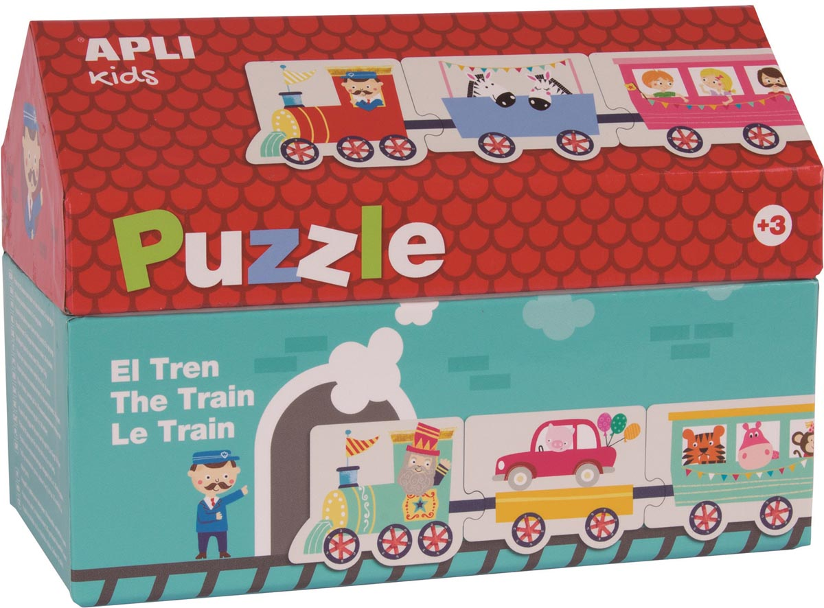 Apli Kids puzzel met 20 stukken, trein