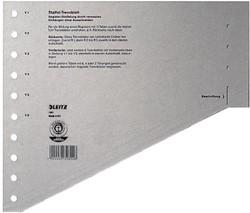 Leitz staffelscheidingsblad, voor ft A4, grijs, pak van 100