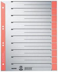 Leitz kartonnen staffeltabbladen, ft A4, rood, pak van 100