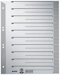 Leitz kartonnen staffeltabbladen, ft A4, grijs, pak van 100