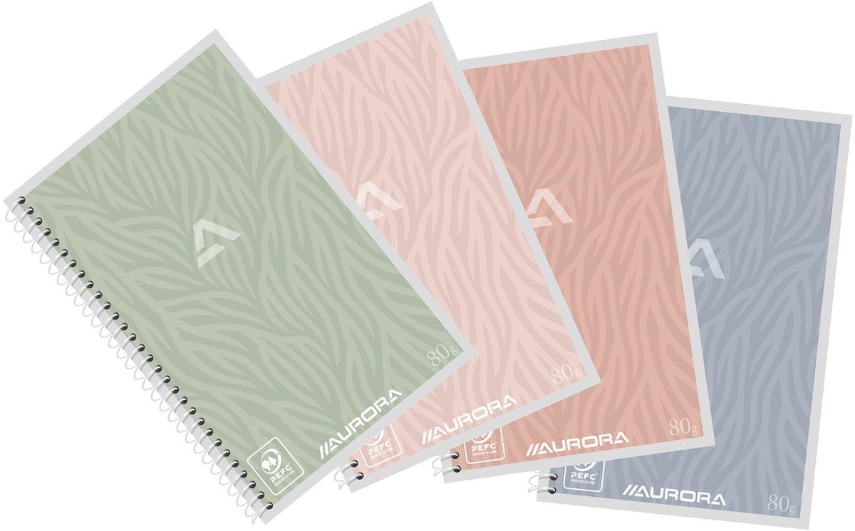 Aurora Writing 80 Design spiraalschrift, ft A6, 120 bladzijden, blanco