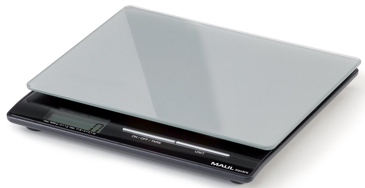 Maul postweegschaal MAULsquare, weegt tot 5 kg, gewichtsinterval van 1 gram