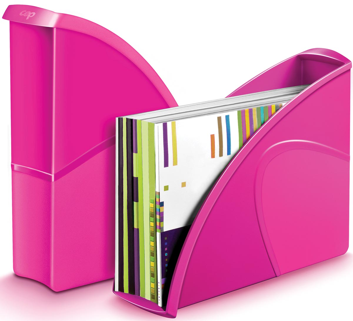 Gloss by CEP tijdschriftenhouder A4, roze