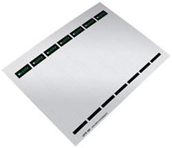 Leitz printbaar rugetiket ft 190 x 32 mm grijs, doos van 175 etiketten (25 bladen van 7 etiketten)