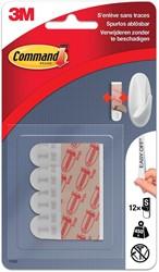 Command bevestigingsstrips, small, draagvermogen 450 g, wit, blister van 12 stuks