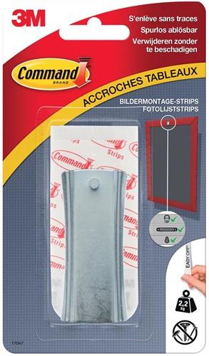 Command fotolijststrip voor haak met zaagtanden, draagvermogen 2,2 kg, metaal, blisterverpakking