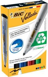 Bic whiteboardmarker 1701 doos van 4 stuks in geassorteerde kleuren